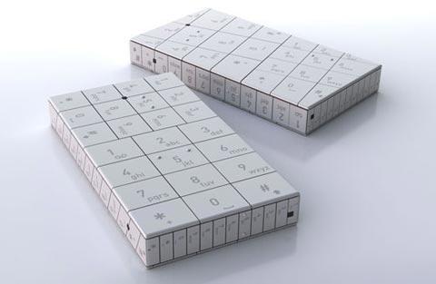 Телефон в форме кубика-рубика