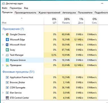 Как отключить фоновые процессы в Windows 10?