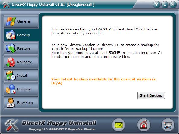 Удаление DirectX через DirectX Happy Unistall