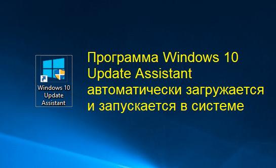 Ярлык Windows 10 Update Assistant на рабочем столе